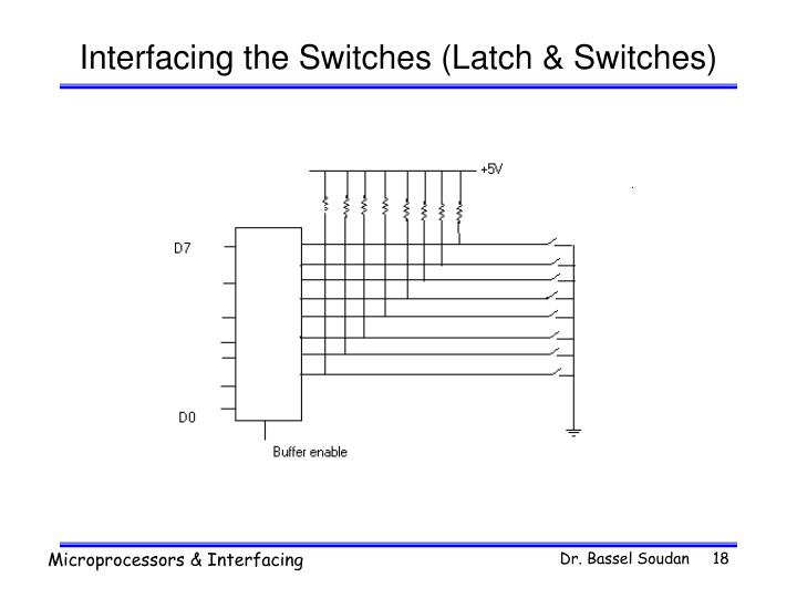 Interfacing the Switches (Latch & Switches)