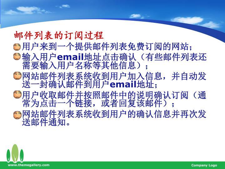 邮件列表的订阅过程
