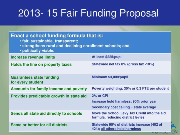 2013- 15 Fair Funding Proposal