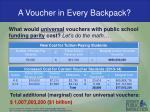 a voucher in every backpack