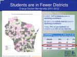 students are in fewer districts change student membership 2001 2012