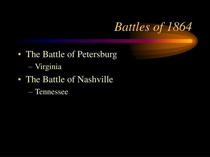 Battles of 1864