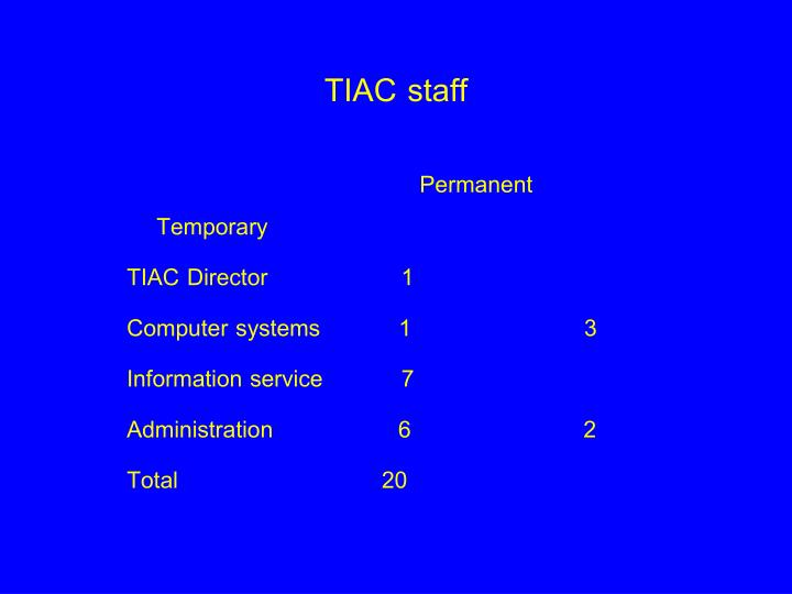 TIAC staff