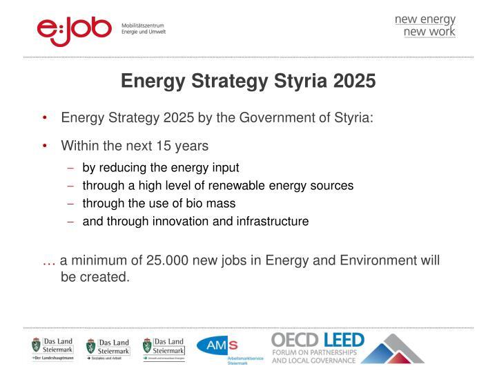 Energy Strategy Styria 2025