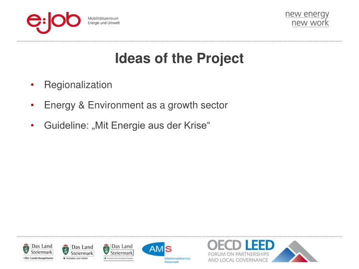 Ideas of the Project