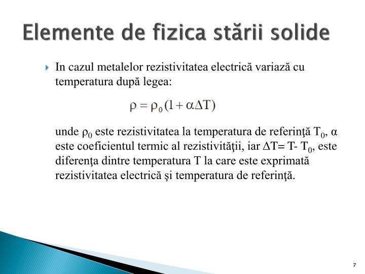 Elemente de fizica stării solide