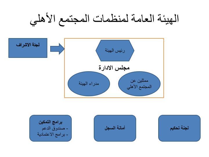 الهيئة العامة لمنظمات المجتمع الأهلي