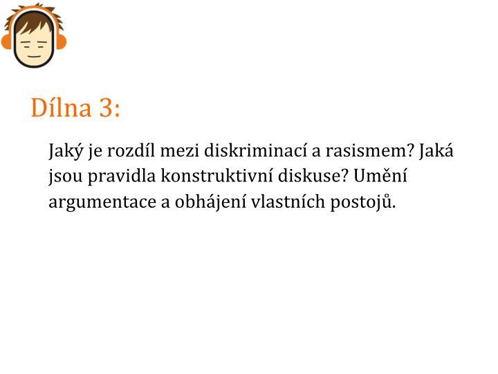 Dílna 3: