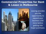 commercial properties for rent lease in melbourne
