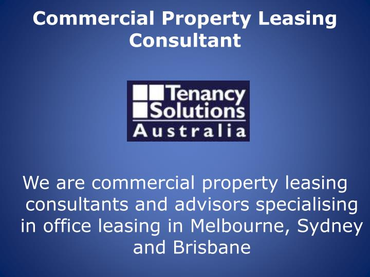 Commercial property leasing consultant