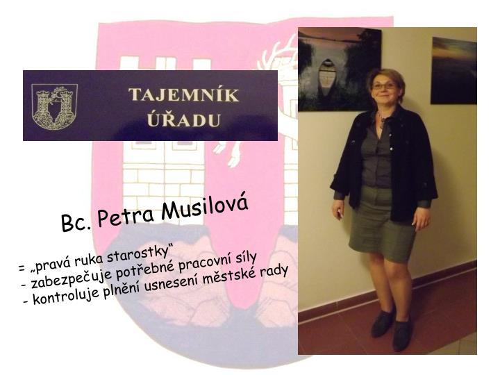 Bc. Petra Musilová