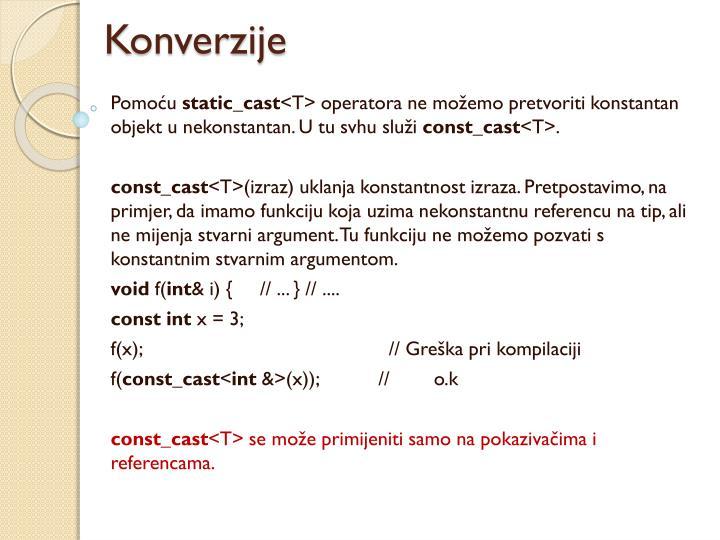 Konverzije