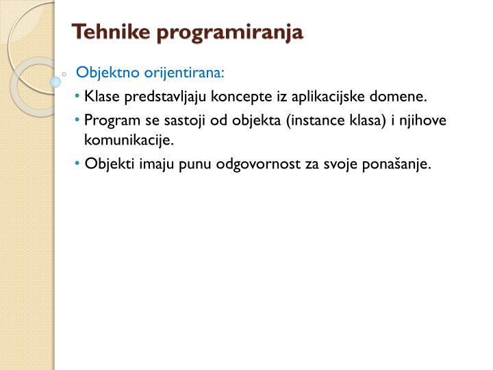 Tehnike programiranja
