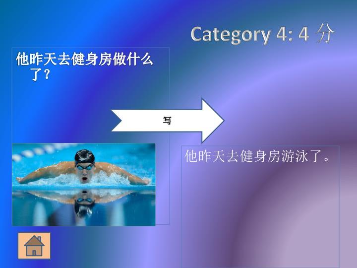 Category 4: 4