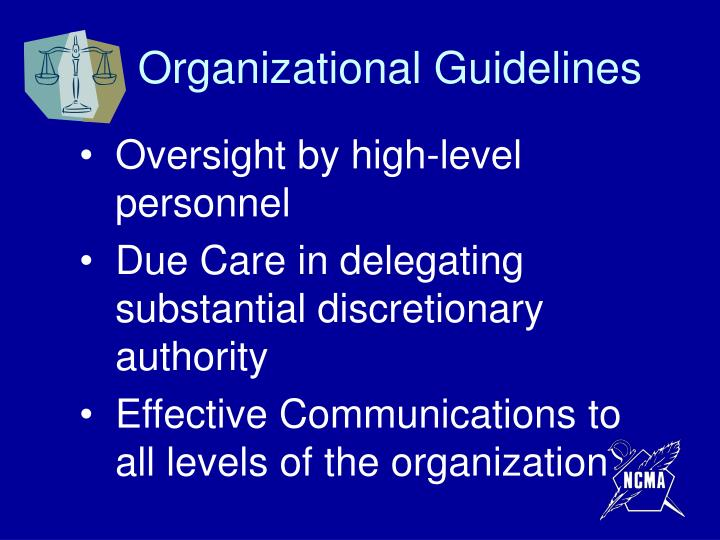 Organizational Guidelines