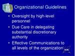 organizational guidelines