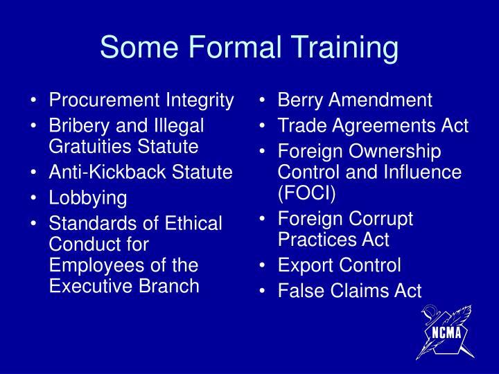 Procurement Integrity