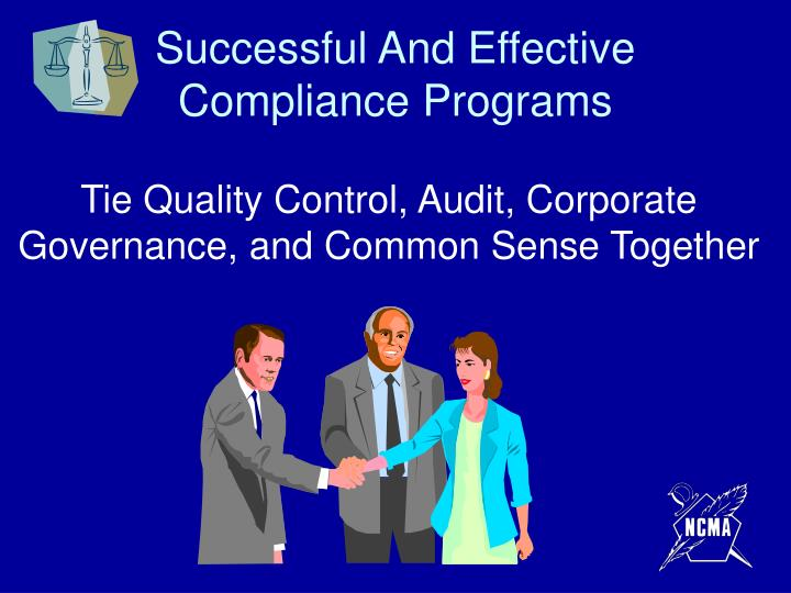 Successful And Effective Compliance Programs