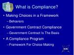 what is compliance1