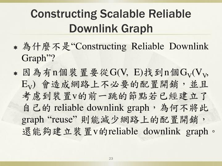 Constructing Scalable Reliable Downlink Graph