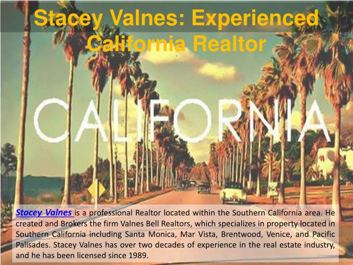 Stacey Valnes: Experienced California Realtor