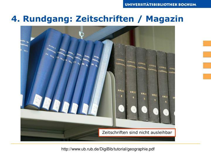 4. Rundgang: Zeitschriften / Magazin