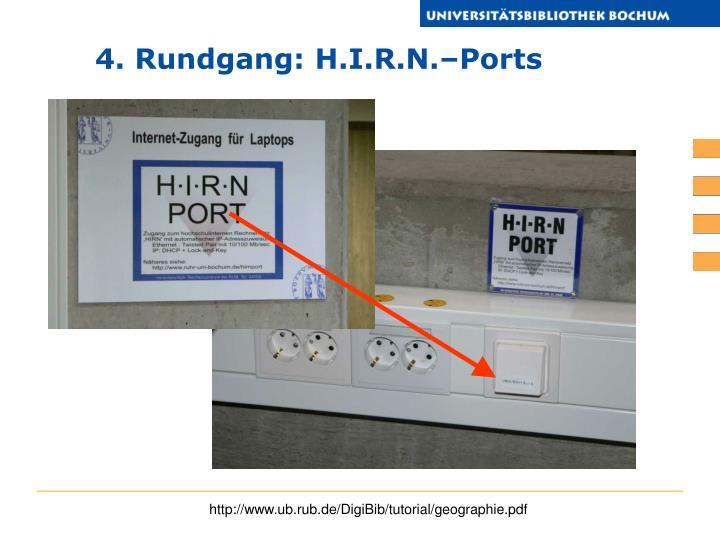 4. Rundgang: H.I.R.N.–Ports