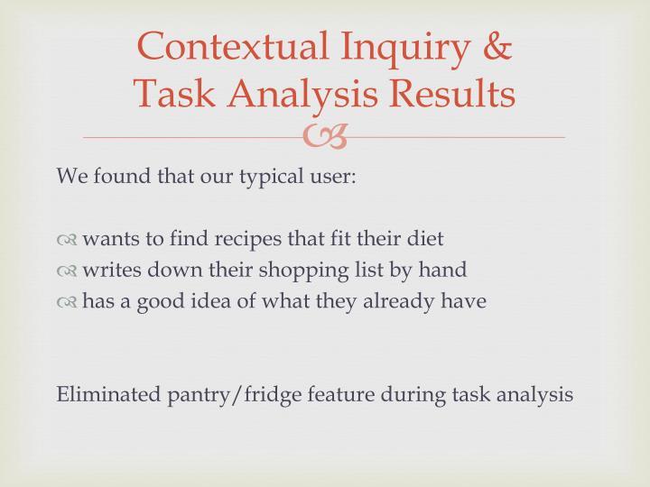 Contextual Inquiry &