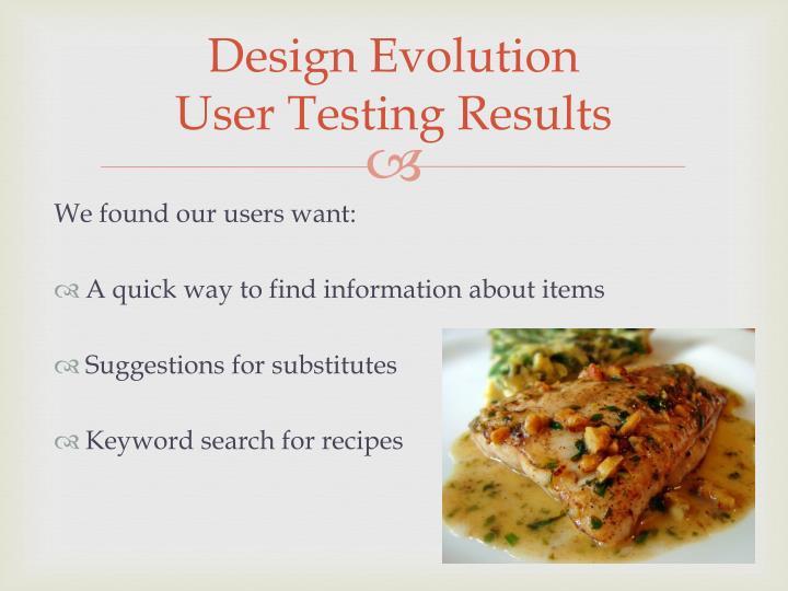 Design Evolution