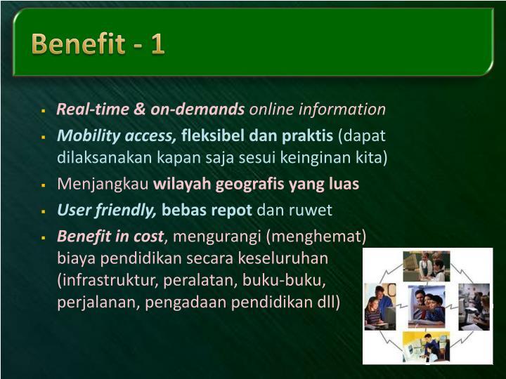 Benefit - 1