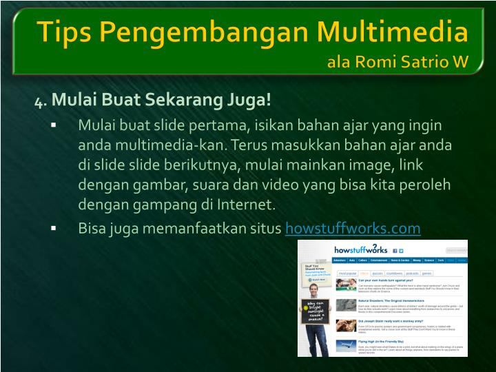 Tips Pengembangan Multimedia