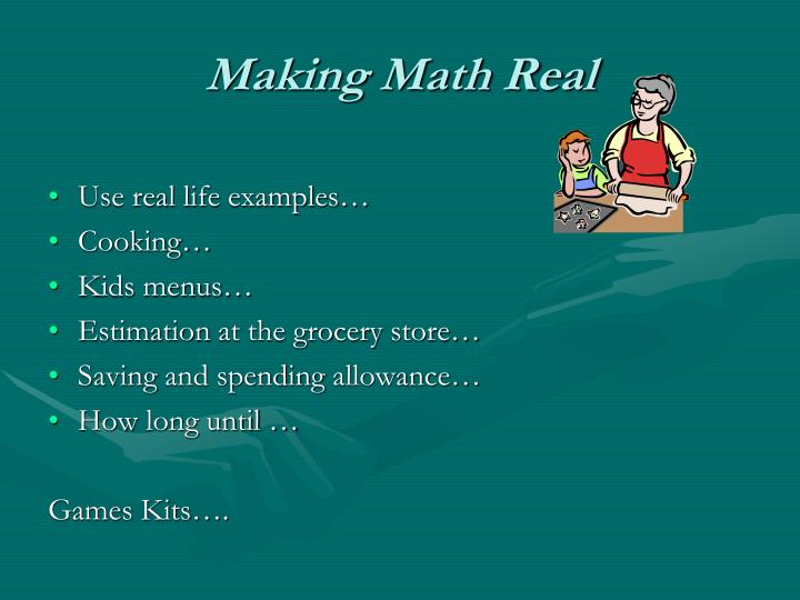 Making Math Real