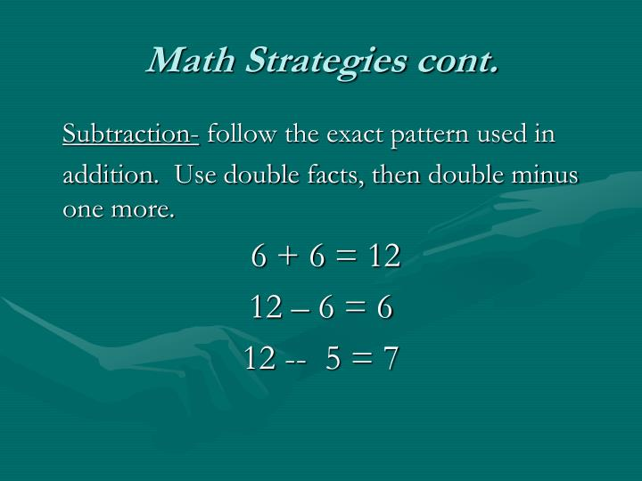 Math Strategies cont.
