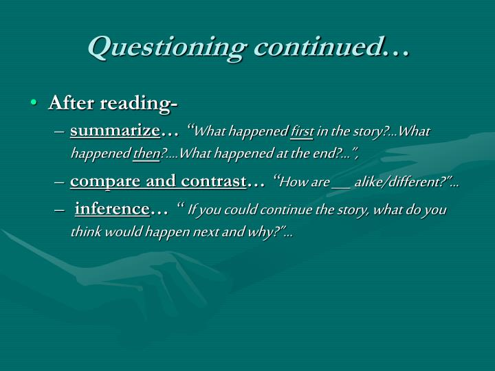 Questioning continued