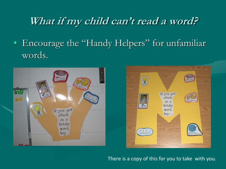 What if my child can't read a word?