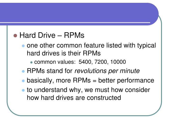 Hard Drive – RPMs