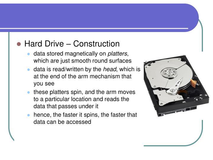 Hard Drive – Construction