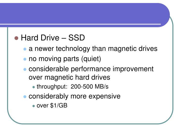 Hard Drive – SSD
