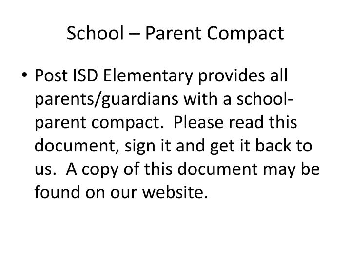 School – Parent Compact