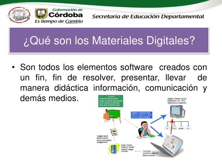 ¿Qué son los Materiales Digitales?