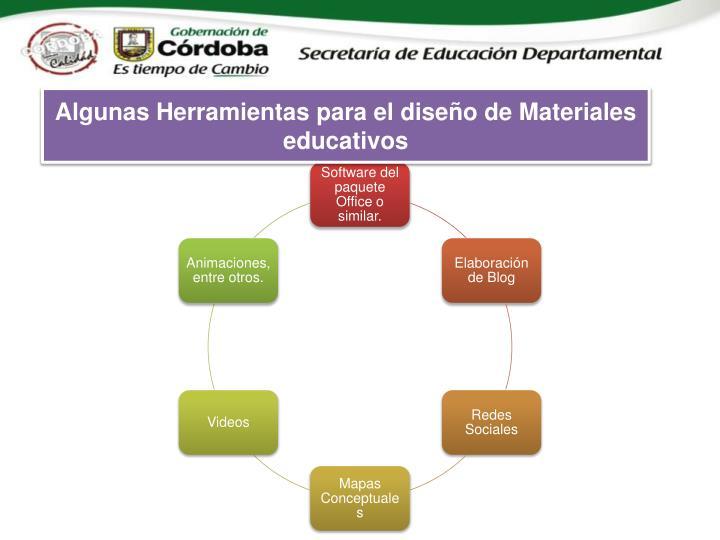 Algunas Herramientas para el diseño de Materiales educativos