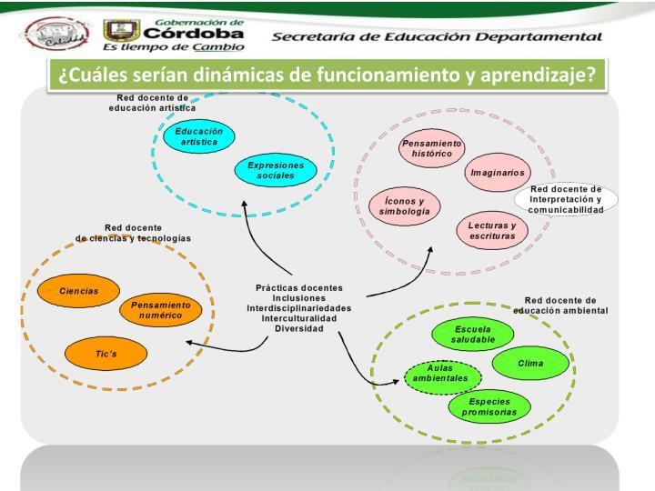 ¿Cuáles serían dinámicas de funcionamiento y aprendizaje?