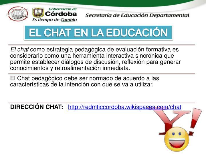 EL CHAT EN LA EDUCACIÓN