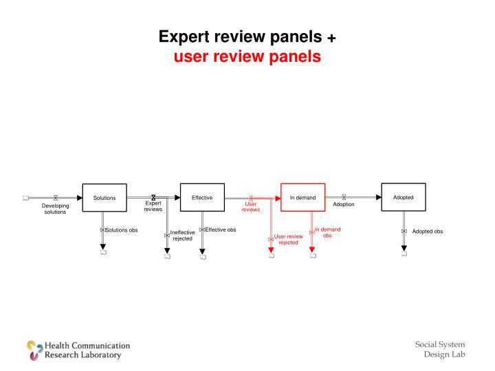 Expert review panels +
