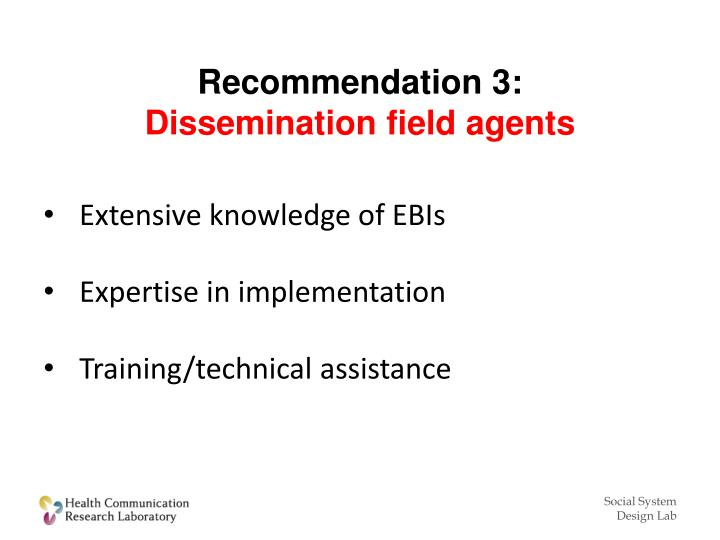 Recommendation 3:
