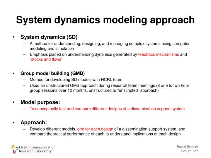 System dynamics modeling approach