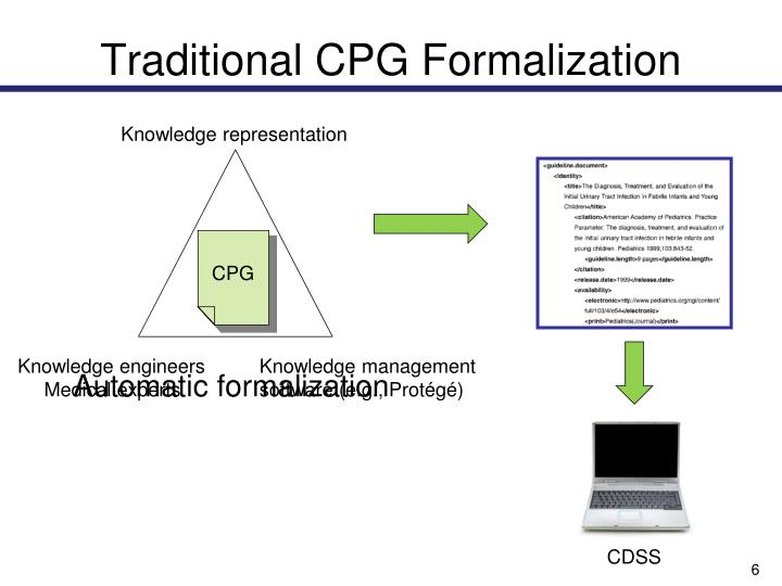Traditional CPG Formalization