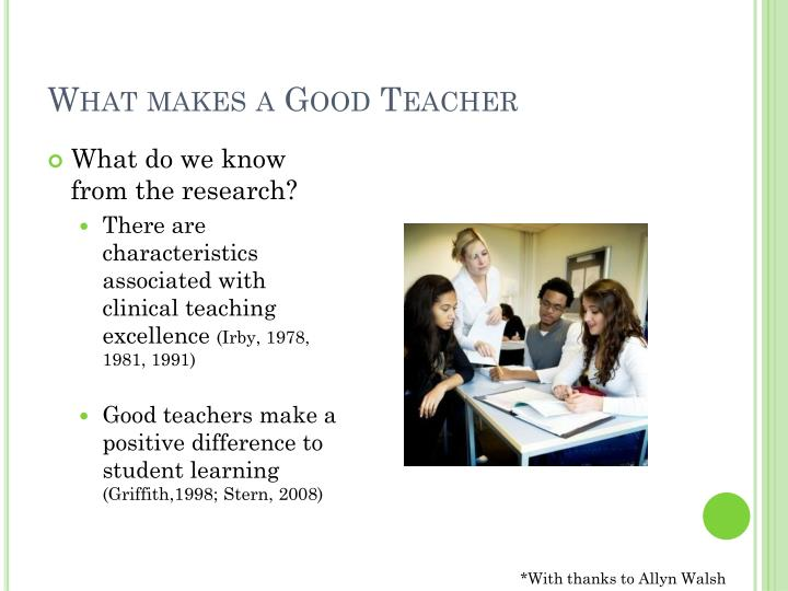 What makes a Good Teacher