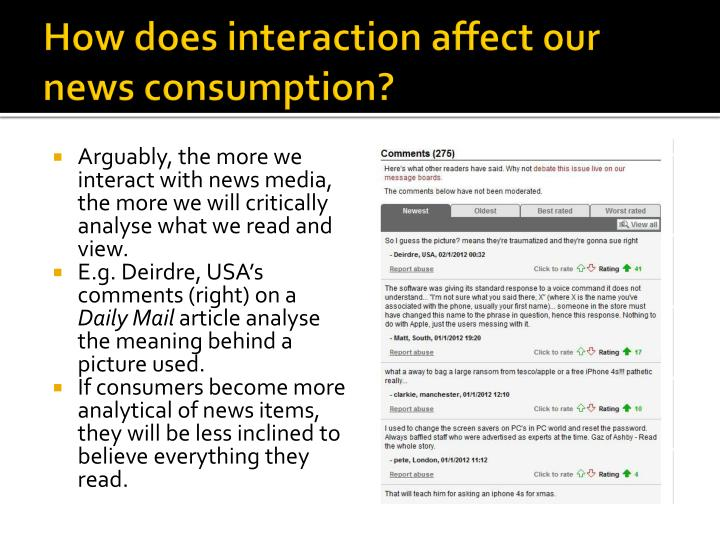 How does interaction affect our news consumption?