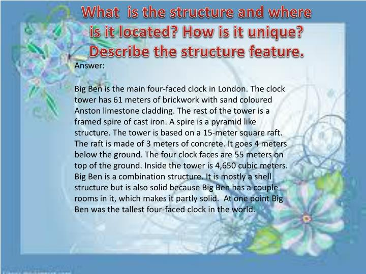 What  is the structure
